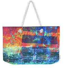 Weekender Tote Bag featuring the painting Language by Nancy Merkle