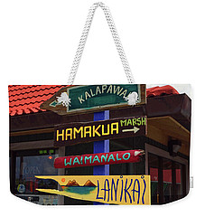 Lanikai Kailua Waikiki Beach Signs Weekender Tote Bag by Aloha Art