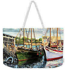 Lannon And Ardelle Gloucester Ma Weekender Tote Bag by Eileen Patten Oliver