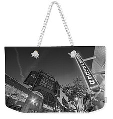 Lansdowne Street Fenway Park House Of Blues Boston Ma Black And White Weekender Tote Bag