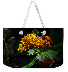Lantana Flowers Weekender Tote Bag by Kenneth Albin