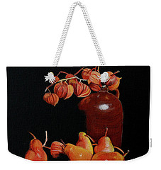 Lanterns And Pears Weekender Tote Bag by Susan Duda