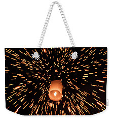 Weekender Tote Bag featuring the photograph Lanterns In The Sky by Pradeep Raja Prints