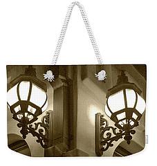 Lanterns - Night In The City - In Sepia Weekender Tote Bag by Ben and Raisa Gertsberg