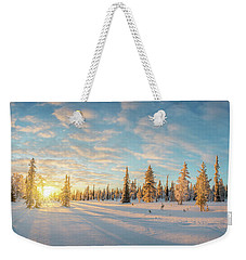 Lapland Panorama Weekender Tote Bag by Delphimages Photo Creations