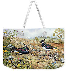 Lapwing Family With Goldfinches Weekender Tote Bag