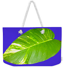 Weekender Tote Bag featuring the digital art Large Leaf Art by Francesca Mackenney
