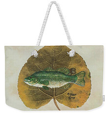 Large Mouth Bass Weekender Tote Bag by Ralph Root