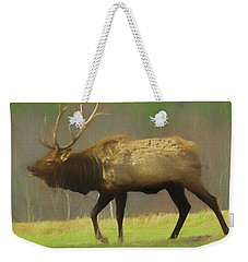 Large Pennsylvania Bull Elk. Weekender Tote Bag