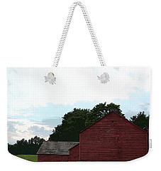 Large Red Barn Weekender Tote Bag