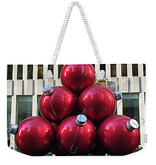 Large Red Ornaments Weekender Tote Bag