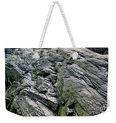 Weekender Tote Bag featuring the photograph Large Rock At Central Park by Sandy Moulder