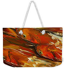 Large Trout Stream Fly Fish Weekender Tote Bag