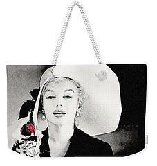 Large White Hat -marilyn Monroe  - Sketch Weekender Tote Bag