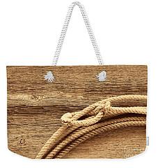 Lariat On Wood Weekender Tote Bag