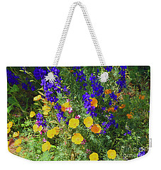 Larkspur And Primrose Garden Weekender Tote Bag
