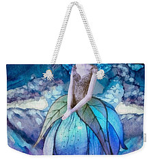 Weekender Tote Bag featuring the painting Larmina by Mo T