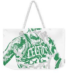 Larry Bird Boston Celtics Pixel Art 6 Weekender Tote Bag