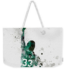Larry Bird Weekender Tote Bag by Rebecca Jenkins