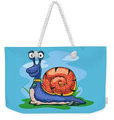 Larry The Snail Weekender Tote Bag