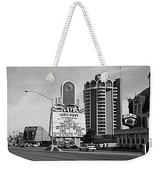 Weekender Tote Bag featuring the photograph Las Vegas 1994 #1 Bw by Frank Romeo
