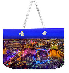 Las-vegas Aerial Golden Hour Weekender Tote Bag