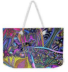 Weekender Tote Bag featuring the painting Las Vegas by Leon Zernitsky