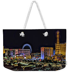 Las Vegas Night Skyline Weekender Tote Bag