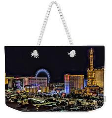 Las Vegas Night Skyline Weekender Tote Bag by Walt Foegelle