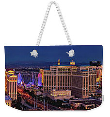 Weekender Tote Bag featuring the photograph Las Vegas Panoramic Aerial View by Susan Candelario