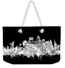 Las Vegas Skyline Black Weekender Tote Bag