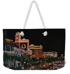 Las Vegas Strip Oil On Canvas Painting Weekender Tote Bag