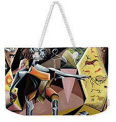Weekender Tote Bag featuring the painting Lascaux by Ryan Demaree