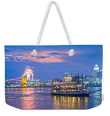 Laser Show Over Paul Brown Stadium  Weekender Tote Bag
