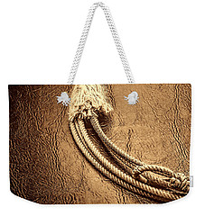 Lasso On Leather Weekender Tote Bag by American West Legend By Olivier Le Queinec