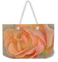 Weekender Tote Bag featuring the photograph Last Autumn Rose by Jacqi Elmslie