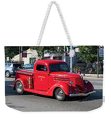 Weekender Tote Bag featuring the photograph Last Chance Hose Company by Suzanne Gaff
