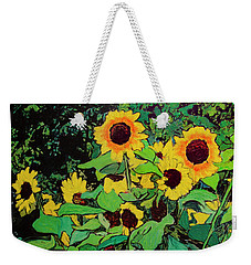 Weekender Tote Bag featuring the painting Last Garden 3 by Ron Richard Baviello