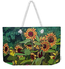 Weekender Tote Bag featuring the painting Last Garden by Ron Richard Baviello