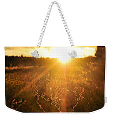 Weekender Tote Bag featuring the photograph Last Glimpse Of Light by Jan Amiss Photography