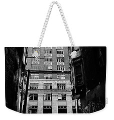 Weekender Tote Bag featuring the photograph Last Jacket  by Empty Wall