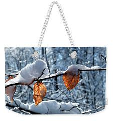 Last Leaves Weekender Tote Bag by Karen Stahlros