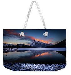 Last Light On Mount Rundle Weekender Tote Bag