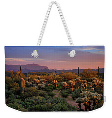 Weekender Tote Bag featuring the photograph Last Light On The Sonoran  by Saija Lehtonen