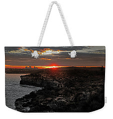 Weekender Tote Bag featuring the photograph Last Light Over North Head Sydney by Miroslava Jurcik