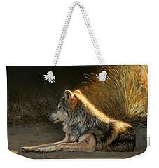 Last Light - Wolf Weekender Tote Bag