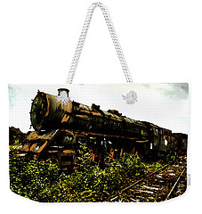 Weekender Tote Bag featuring the painting Last Of The 309  Steam Train  by Iconic Images Art Gallery David Pucciarelli