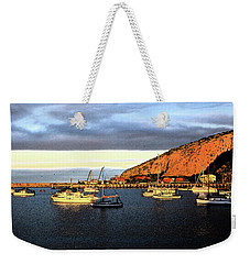 Weekender Tote Bag featuring the photograph Last Rays At The Bay by Nareeta Martin