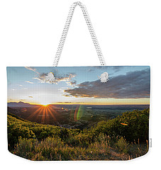 Weekender Tote Bag featuring the photograph Last Rays by Margaret Pitcher