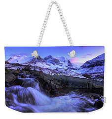 Weekender Tote Bag featuring the photograph Last Rays On Andromeda by Dan Jurak